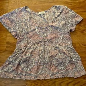 Lucky Brand designed Short Sleeve top; hardly worn